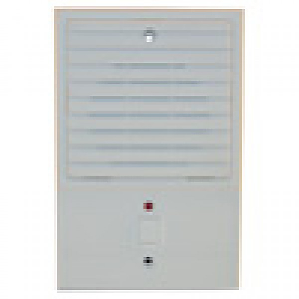Valet White Door Station-Louvered