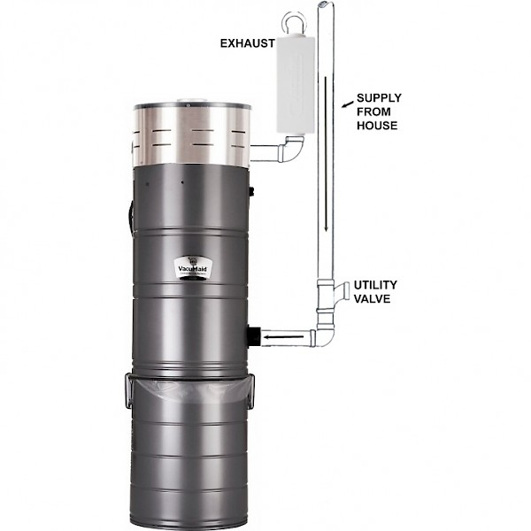 Vaaid® P110 Cyclonic Central Vacuum System on